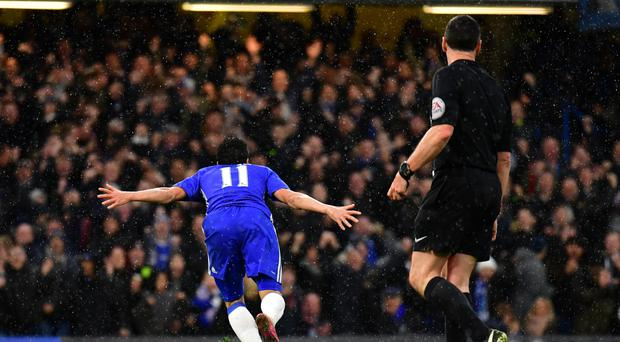 Chelsea's Pedro turns to celebrate his goal