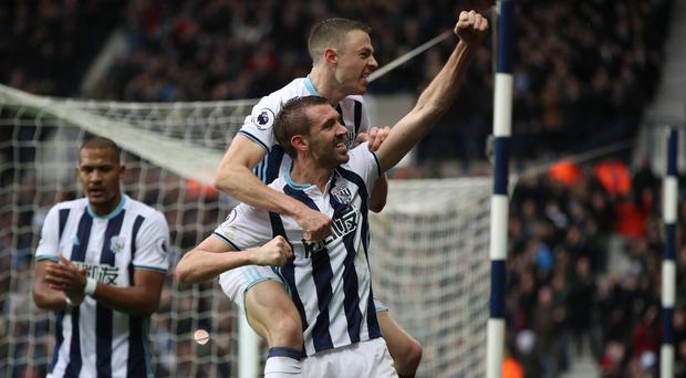 Gareth McAuley scored West Brom's winner on his 500th club appearance