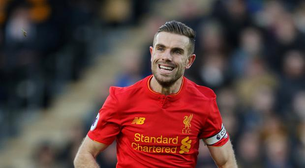 Liverpool's Jordan Henderson will miss their match at Leicester.