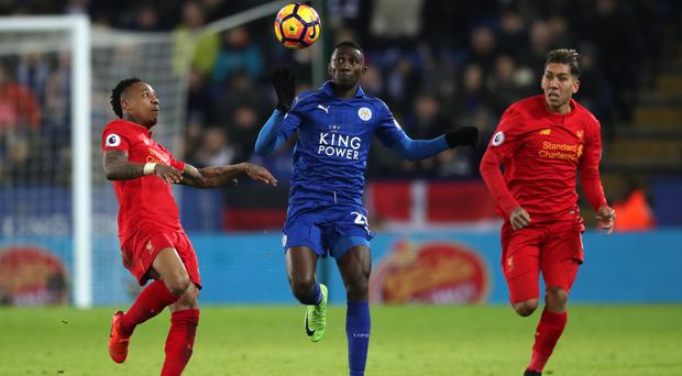 Wilfred Ndidi, centre, rivalled Jamie Vardy for man of the match honours