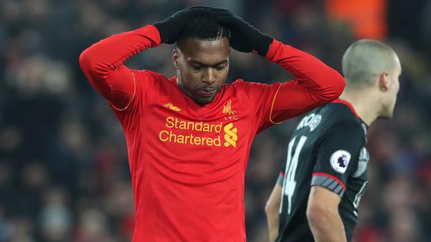 Daniel Sturridge, pictured, has received no assurances over his Liverpool future in public from manager Jurgen Klopp