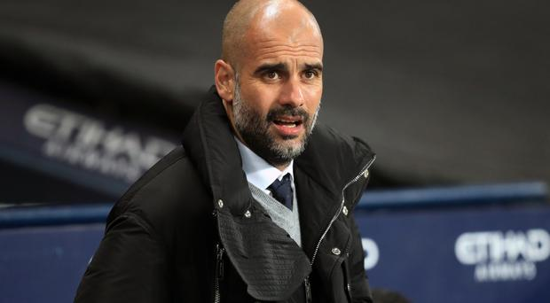 Pep Guardiola, pictured, hailed Sergio Aguero after his two-goal display