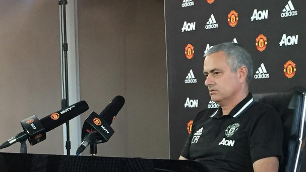 Manchester United manager Jose Mourinho made a statement with his shirt after the sacking of Leicester boss Claudio Ranieri
