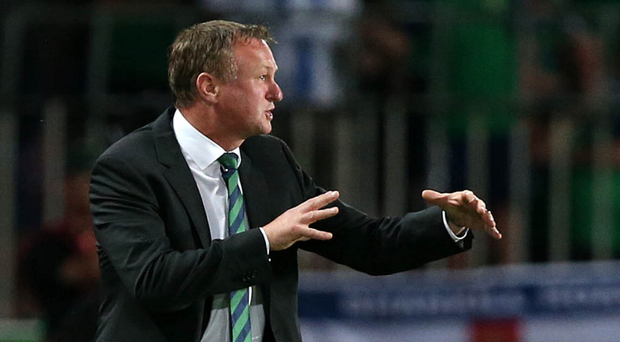 Drifting out: Northern Ireland boss Michael O'Neill's odds of replacing Claudio Ranieri have lengthened from 10-1 to 16-1