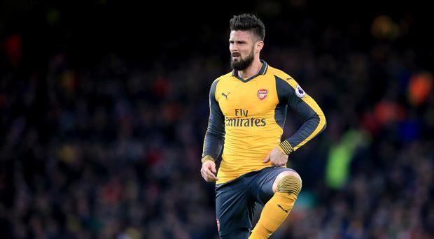Arsenal's Olivier Giroud struggled to make an impact at Anfield