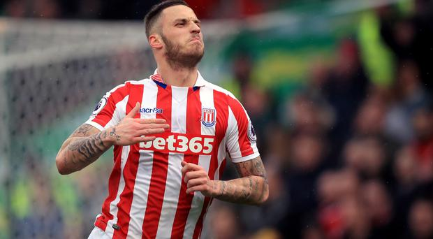 Marko Arnautovic scored both of Stoke's goals in the 2-0 win over Middlesbrough