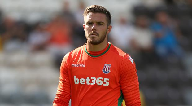 Jack Butland is making progress in his recovery from a fractured ankle