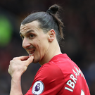 Sitting it out: Zlatan Ibrahimovic will miss three domestic games after his elbow on Bournemouth ace Tyrone Mings