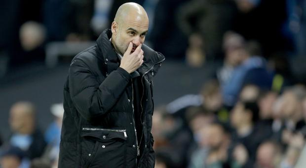 It was a frustrating night for Pep Guardiola