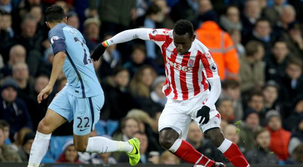 Mame Biram Diouf, right, stood out in Stoke's goalless draw with Manchester City
