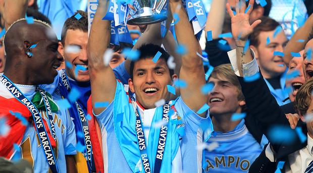 Sergio Aguero scored a dramatic late winner to clinch the Premier League title for Manchester City in 2012