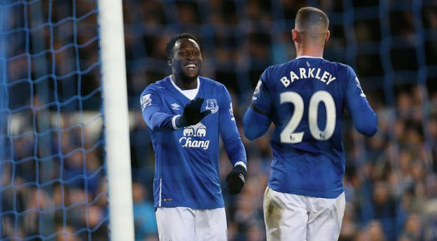 With Romelu Lukaku (left) set to sign a new contract, Everton have turned their attention to Ross Barkley's long-term future