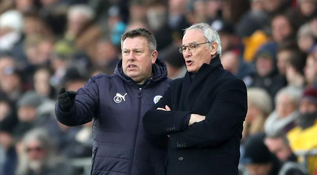 New Leicester manager Craig Shakespeare (left) with former boss Claudio Ranieri.