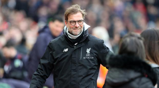 Liverpool manager Jurgen Klopp was happy for his side to