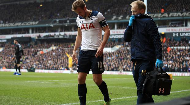 Harry Kane had to come off against Millwall on Sunday