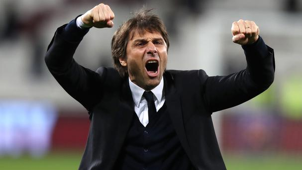 Antonio Conte, pictured, is full of admiration for Eden Hazard's determination to get on top of opponents
