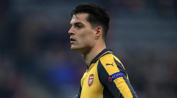 Granit Xhaka has been sent off twice for Arsenal this season