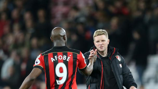 Bournemouth boss Eddie Howe was full of praise for Benik Afobe after his match-winning display against Swansea