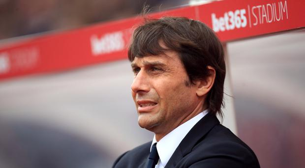 Antonio Conte moved away from his 3-4-3 formation in the second half at Stoke