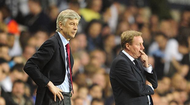 Harry Redknapp (right) thinks Arsene Wenger could be ready to walk away from Arsenal