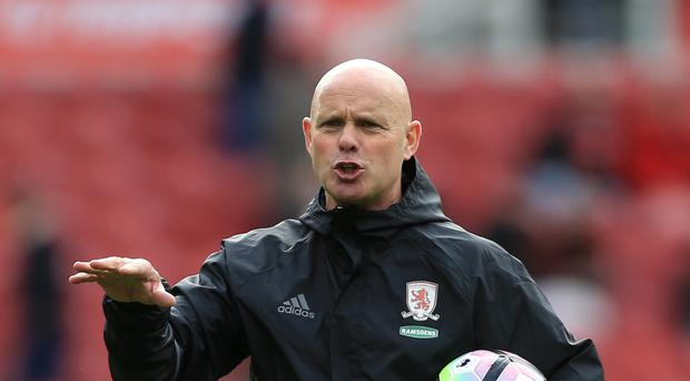 Steve Agnew suffered defeat in his first match in charge of Middlesbrough