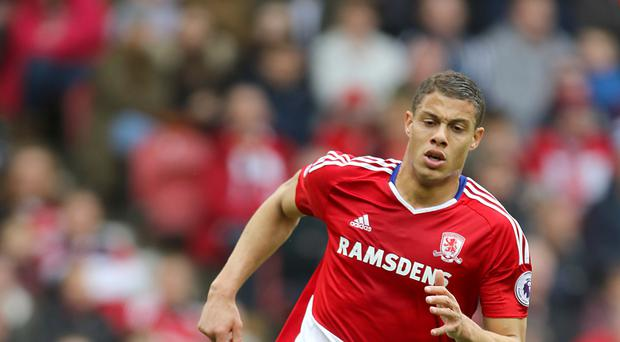 Rudy Gestede scored Middlesbrough's goal in their 3-1 home defeat to Manchester United