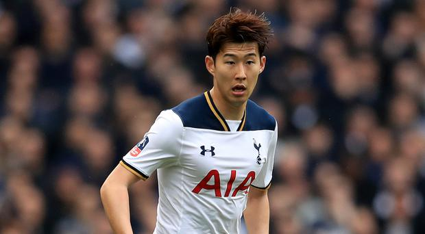 Son Heung-min replaced the injured Harry Kane in the Tottenham line-up