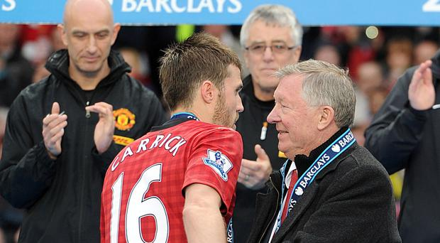 Sir Alex Ferguson (right) will manage a team at Michael Carrick's testimonial