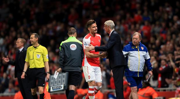 Olivier Giroud has come out in support of Arsene Wenger