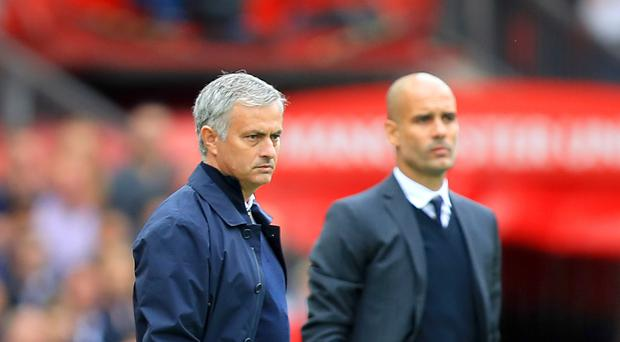 Manchester United manager Jose Mourinho (left) and Manchester City manager Pep Guardiola (right) are set to take their sides on a pre-season summer tour to the United States of America