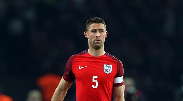 Gary Cahill will captain England against Germany
