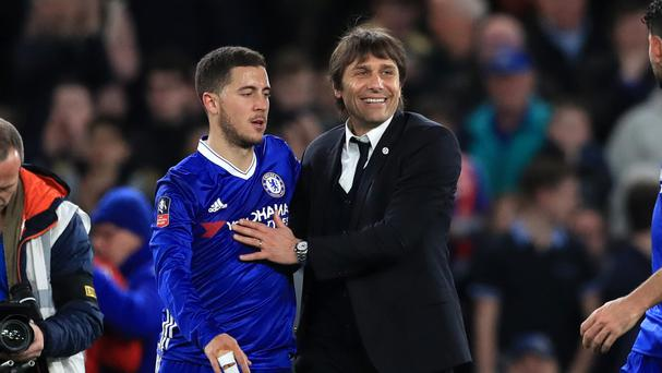 Antonio Conte wants Hazard, Courtois and Costa contract talks on hold