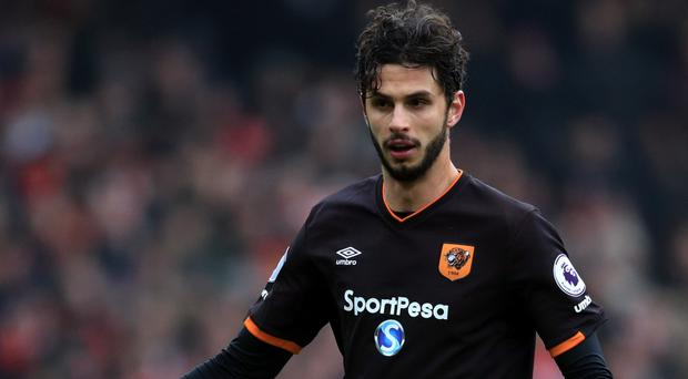 Andrea Ranocchia headed his first goal for Hull