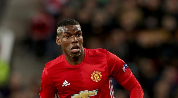 Manchester United's Paul Pogba has not played since picking up an injury against Rostov