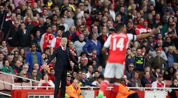 Arsene Wenger was pleased with the spirit shown by his players against Manchester City