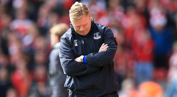 Ronald Koeman's Everton suffered defeat to Liverpool on Saturday