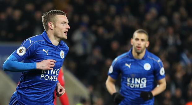 Jamie Vardy was on target again