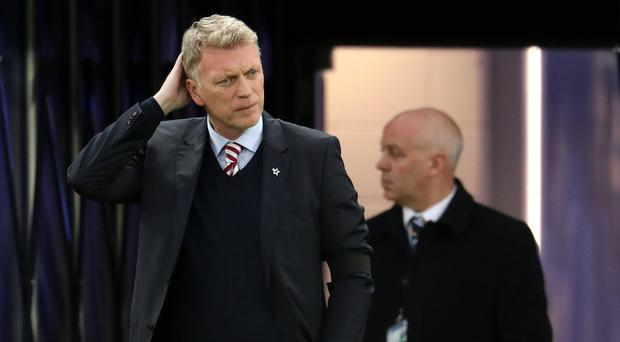 Sunderland manager David Moyes watched his side slip to a 20th Premier League defeat at Leicester.