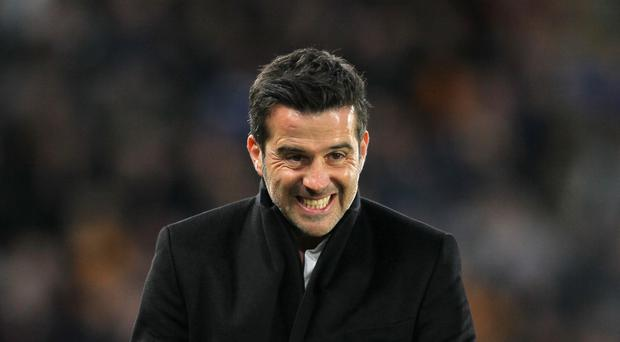 Marco Silva shows his delight at his side's latest home win