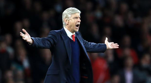 Fans chanted Arsene Wenger's name after Arsenal's win