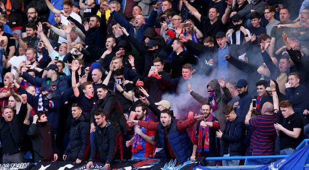 Flares were set off at Stamford Bridge on Saturday