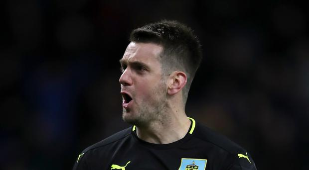 Burnley's goalkeeper Tom Heaton denied Alvaro Negredo