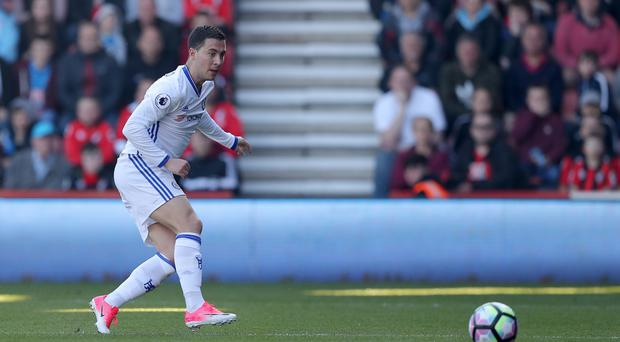 Chelsea's Eden Hazard scored his side's second goal in the win at Bournemouth