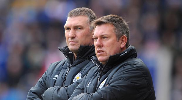 Nigel Pearson and Craig Shakespeare (right) during Pearson's spell as manager