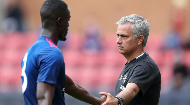 Eric Bailly, left, believes Jose Mourinho will get the most out of Manchester United's squad