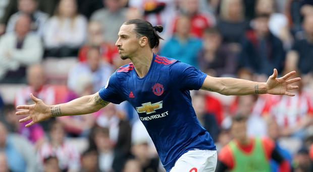 Zlatan Ibrahimovic, pictured, and Diego Costa have each scored 17 goals so far this season