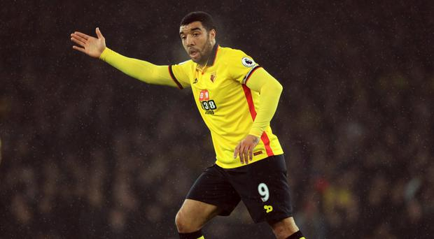 Watford forward Troy Deeney started on the bench for last weekend's Premier League defeat at Tottenham