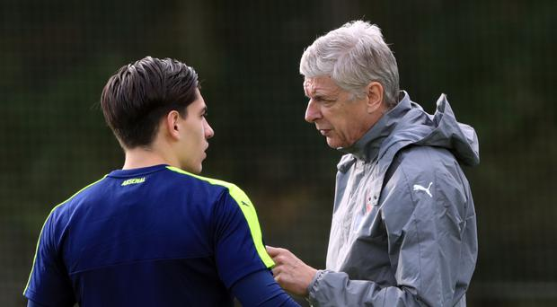 Hector Bellerin (left) has established himself as Arsene Wenger's first-choice right-back at Arsenal.