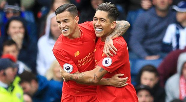 Roberto Firmino, right, was Liverpool's match-winner