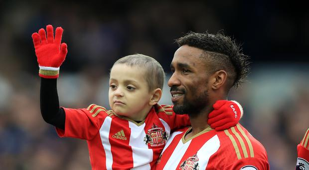 Jermain Defoe has developed a close bond with Bradley Lowery